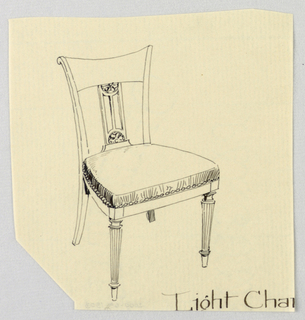 Drawing, Design for Light Chair