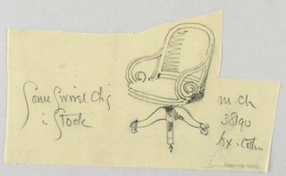Drawing, Designs for Chairs