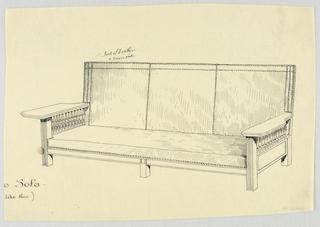 Drawing, Design for Showwood Sofa