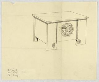 Drawing, Design for Plain Narrow Cassone
