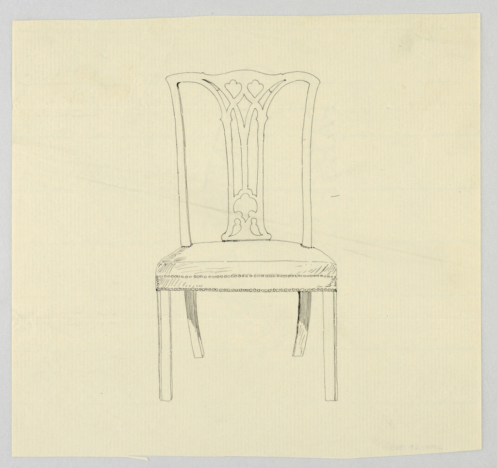 Drawing, Design for Armless Flare-Backed Chair