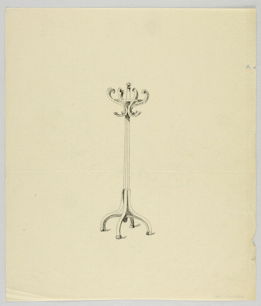 Drawing, Design for Wooden Hat Tree