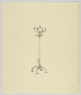 Drawing, Design for Wooden Hat Tree, 1900–05