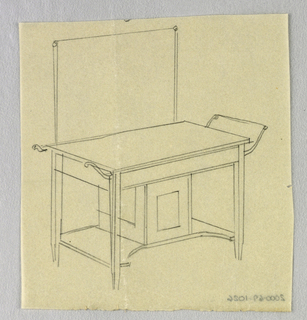 Drawing, Designs for Wardrobes, Washstands, & Somno (Night Tables)