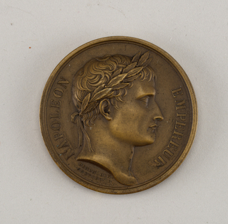 Medal commemorating the visit of Napoleon to the Paris Mint.