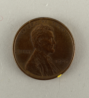 One Cent,current Money, 1909