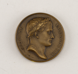 Medal commemorating the union of Roman States with France.
