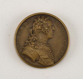 Medal commemorating Louis XV.