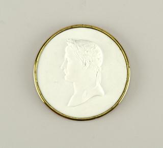 Head of Napoleon I in Wedgwood (white)