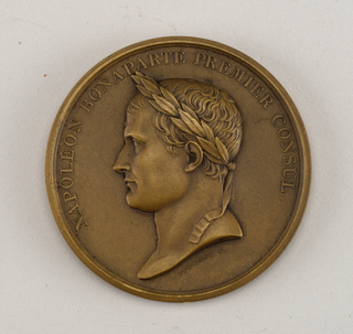 Medal commemorating the Treaty of Amiens (March 27, 1802).