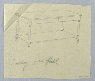 Drawing, Design for Console Table for Landing of Second Hall