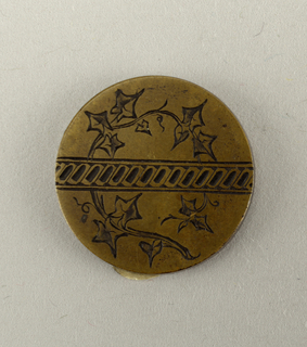 engraver's sample for button