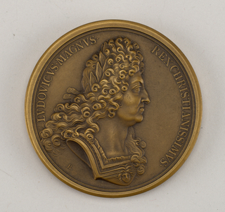 Medal commemorating naval victories of Louis XIV.