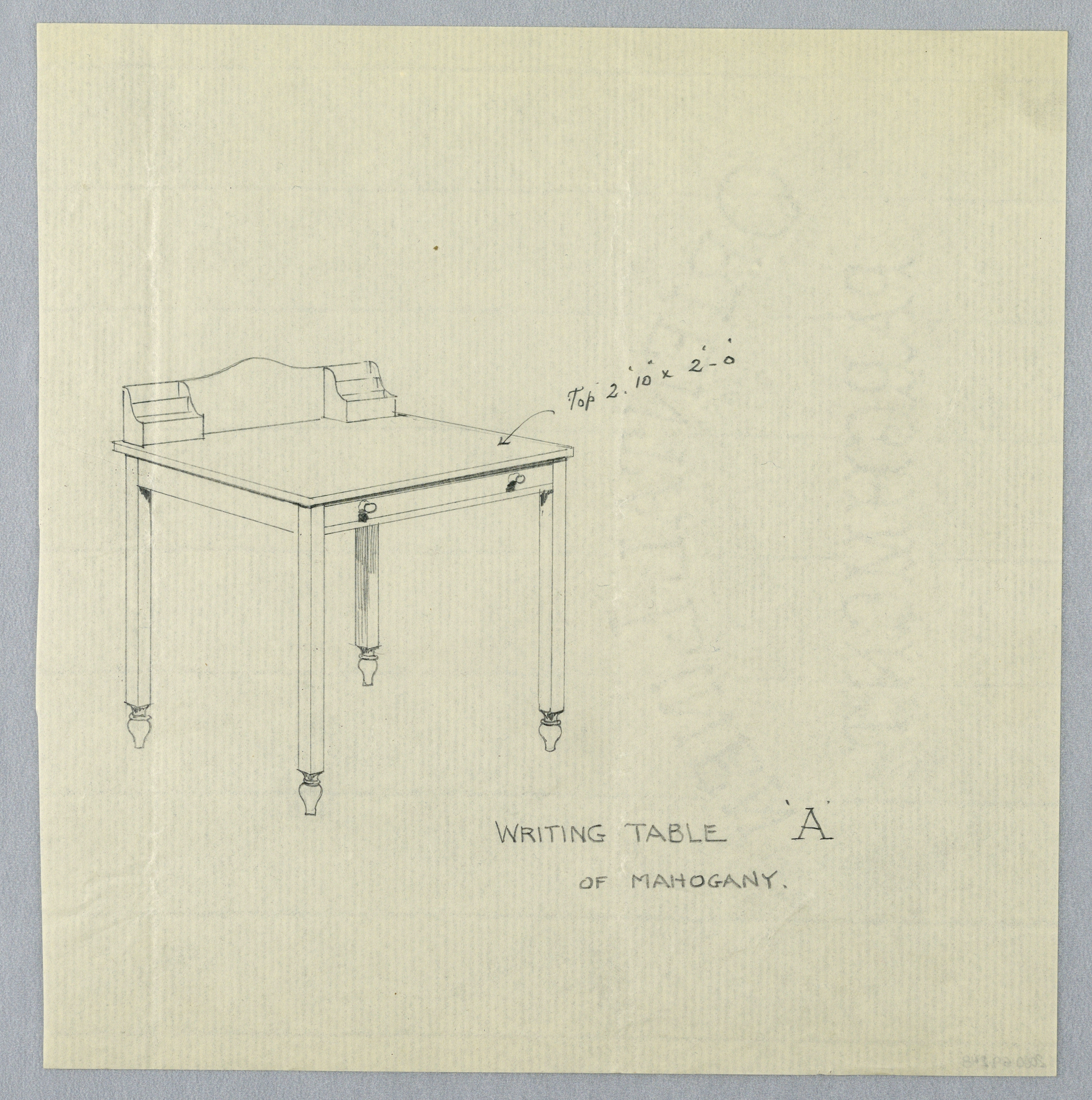 Drawing, Design for Simple Writing Table