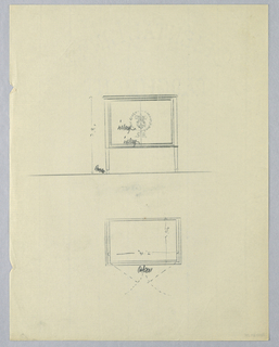 Drawing, Design for Music Cabinet
