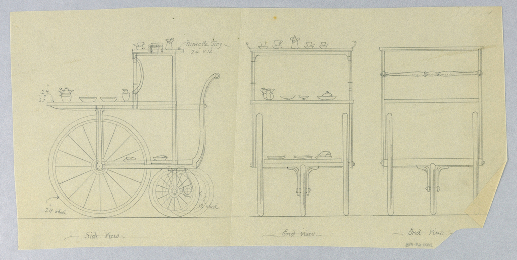 Catalogue Illustration, Design for Dining Table: Tea Wagon, 1900–05