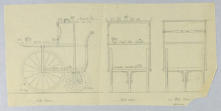Catalogue Illustration, Design for Dining Table: Tea Wagon, 1900–05