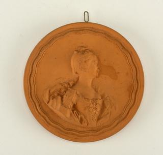 reproduction portrait medallion: Mlle. Alcoque