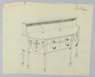 Drawing, Design for Sideboard with Neo-Classical Ornament