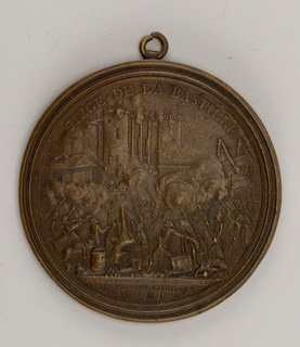 Medal commemorating the siege of the Bastille