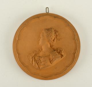 reproduction portrait medallion: Marquise de Bouffry
