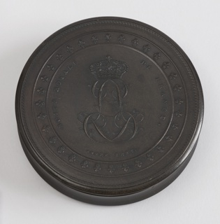Round box, removable lid