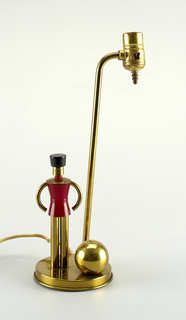 Brass lamp, soldier form