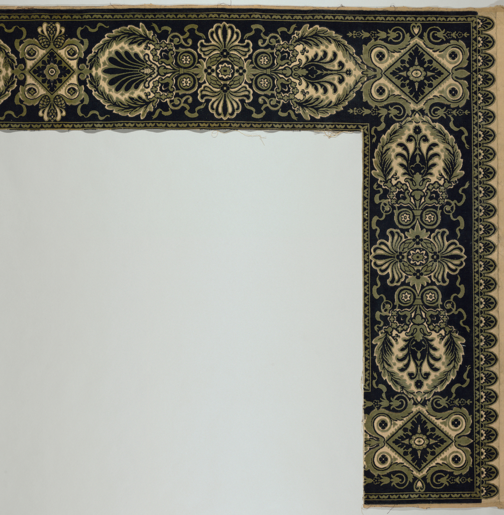 Border, part of a valance, with a pattern of palmettes and Empire motifs.
