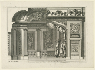 "Print, Design for a French Alcove, from ""Alcoves à le Francoise"", ca. 1665"