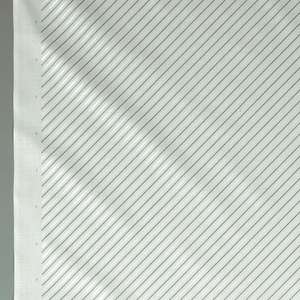Three vertical blocks of regular diagonal grey and pearlescent white lines.