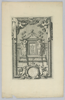 """Print, Design for Tabernacle, from """"Tabernacles"""", ca. 1660"""