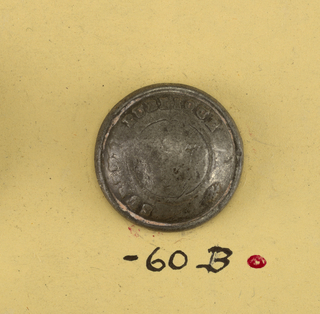 "Convex buttons with ""Surete Publique"" around outside. On reverse, A) ""AM and C. Paris"". B) ""Perdectionne Paris"".  On card C"