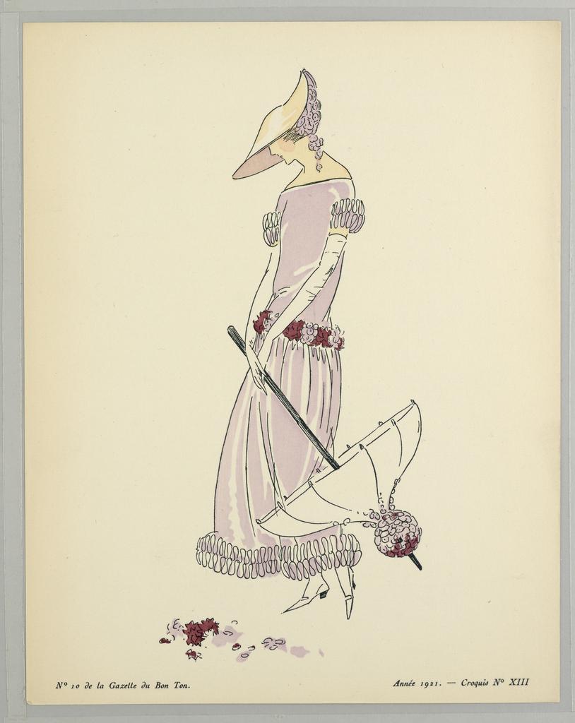 Print, Gazette du Bon Ton (Journal of Good Taste), Vol. 2, No. 10, Plate 13