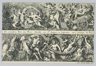 Print, Two Friezes, ca. 1650