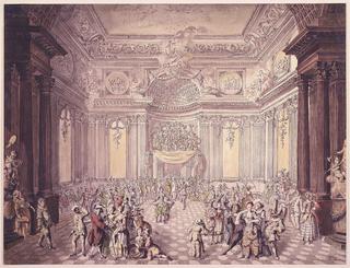 Drawing, View of Masquerade Ball