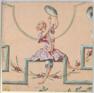 Drawing, Singerie: Male Monkey wit, 1860–90