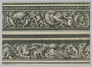 "Print, Two Entablatures, from ""Frises Pour Les Architraves"", ca. 1675"