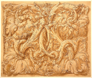 Drawing, Design for Acanthus Rinceaux with Animals and Birds