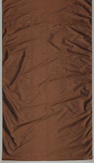Bronze silk moire.