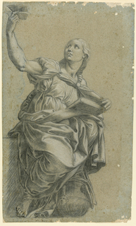 The Cumaean Sibyl's right toes are outline in pen and ink. Written below, in ink is ala pace Px.