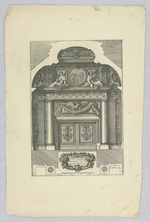 "Print, Design for Mantle Piece, from ""Cheminées a la Romaine"""
