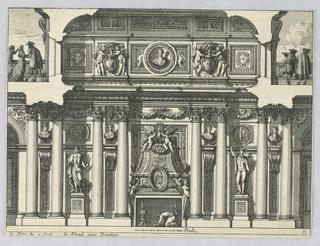 """Print, Design for Mantle Piece, from """"Cheminées et Lambris"""""""