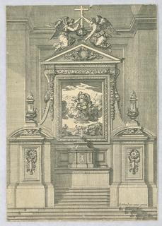 "Print, Design for Altars, from ""Autels et Retables"", ca. 1660"