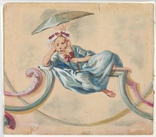 Drawing, Singerie: Female Monkey w, 1860–90