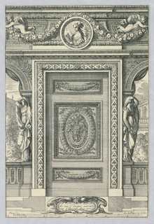 "Print, Design for Door, from ""Placarts Ou Ornemens"", ca. 1660"