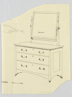 Drawing, Design for Bureau