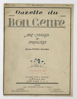Print, Gazette du Bon Genre, 1920