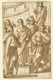 Drawing, St. Paul Preaching upon the Aeropagus in Athens, ca. 1550–1600