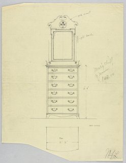 Drawing, Design for Highboy and Chest