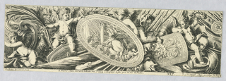 Print, Frieze: Trophies of Arms and Putti, 1671
